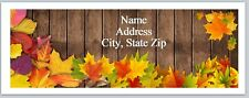 Personalized Address Labels Fall Autumn leaves Buy 3 get 1 free (P 582)