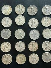 Bulk Lot Walking Liberty Half Dollar $10 Face Value 90% Silver Roll (20 Coin)