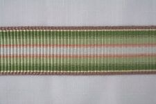 "Wide Woven Sewing Braid Trim Tape 1 3/4"" wide -45mm Green Multi 5  1/4 yds"