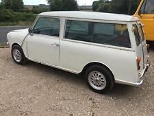 Mini clubman estate classic car white