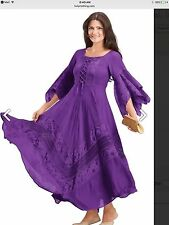 NEW w/tags Holy Clothing Plus Size Woman's 3X Maxi Dress Peasant Gypsy