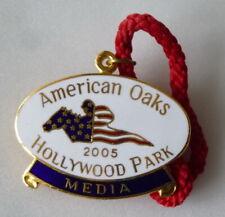 More details for american oaks 2005 enamel badge horse racing racecourse hollywood park media