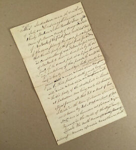 Monroe Orange County NY: 1830 Land Deed between JOHN BROOKS JR & ROBERT FOWLER