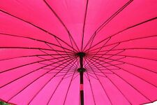 2.7M Wide Shanghai Garden Parasol Umbrella in Pink Colour With Tilt and Crank