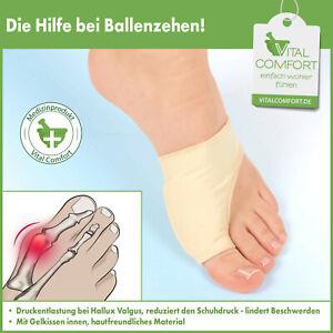 Hallux Valgus Schutz Bandage Zehenschutz Korrektur Gelkissen Fußbandage S/M L/XL