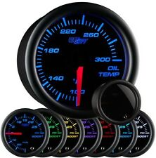 "GlowShift 2 1/16"" Tinted Electronic Oil Temp Gauge Meter 7 Color LED GS-T707"