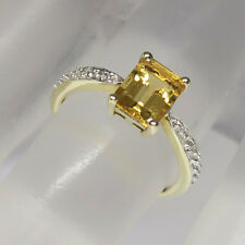 Ring mit Diamant und Citrin Besatz in 585/14K Weißgold-/Gelbgold