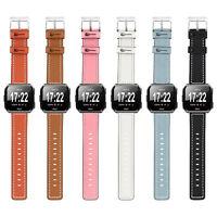 Genuine Leather Strap Watch Band Bracelet Wristband For Fitbit Versa 2 Fitness