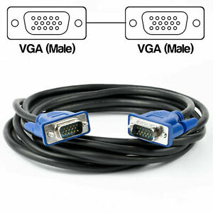 3M VGA Computer Monitor Cable 15 Pin Male to Male PC Laptop Screen Lead 3 Meter