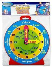 Clever Kidz Teaching Clock. Learn To Tell The Time. Bright and Colourful. 23cm