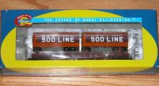 ATHEARN 92358 50' FLAT WITH TWO 25' TRAILERS SOO LINE 54432