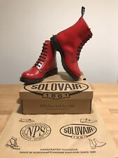 NPS SOLOVAIR Red Leather Hi-Shine 8 Eye Derby Boot! SizeUK8! New! Only