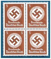 RARE MNH BLOCK of 4 WW2 NAZI SWASTIKA STAMPS! BUY 2 GET SHEET OF 8! BUY 3 GET 12
