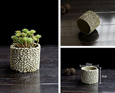 3D Cement imitation stone vase mold silicone planter mould silicone molds