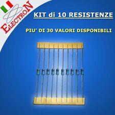 10 x RESISTENZE Resistori 1/4W 1% FILM METALLICO 0.25W - PRECISIONE METAL FILM