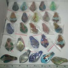 Glass Lampwork Colorful Drop Pendant Wholesale / Closeout Lot Of 25 Pendants