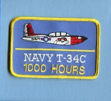 BEECHCRAFT T-34 C MENTOR 1000 FLIGHT HOURS US NAVY USMC Training Squadron Patch