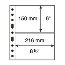 5 Pochettes plastiques GRANDE, 2 Bandes horizontales,transparentes  Réf  336439