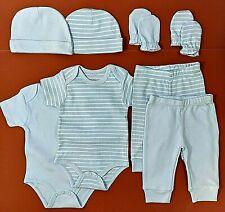 Set 8 Tgl Baby Body Kratzer Mütze Hose Gr 50/56/62, 0-3 Monate, Erstausstattung