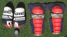 Vintage Hockey Equipment, Shin Guards + Autographed Hockey Gloves & Puck HOF'ers