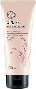 THE FACE SHOP Rice Water Bright Facial Foaming Cleanser 150ml Softer Skin - UK