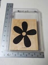 STAMPIN UP BIG BLOSSOM DAISY BACKGROUND WOOD MOUNTED STAMP SET USED A3733