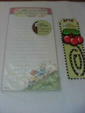 Mary Engelbreit Magnetic List Pad and Cherries Clip