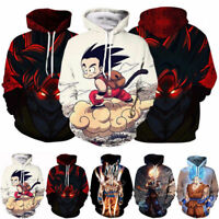 Women/Men Dragon Ball Z Goku Anime 3D Print Casual Hoodies Sweatshirt Pullovers