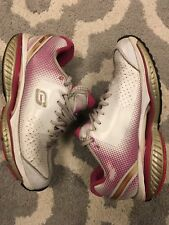 Sketchers Shape Ups Resistance Womens Walking Shoes US Size 8.5 White Pink Nice!
