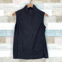 Columbia Titanium Interchange Fleece Vest Jacket Black Lightweight Womens Medium