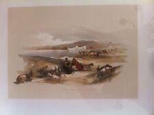 David Roberts Original 1843 Folio Hand Color Lithograph - Holy Land - Ashdod