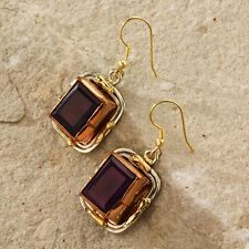 New Tara Mesa 18.54 CT Amethyst Embellished Rectangle Earrings [MSRP~$225]