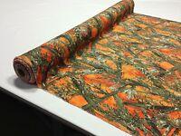 "Hunting Camo True Timber MC2 Blaze Orange Fabric 60""W Poly Taffeta Camouflage"