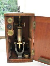 Antique Petrological / Polarizing Microscope by C.Baker