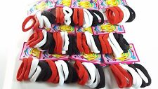 72 pcs Hair Ties Pony Tail Holders Color Black-White-Red.