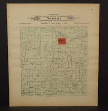 Nebraska Lancaster County Map Nemaha Township Dbl Side 1903  K17#06