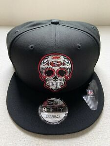 San Francisco 49ers New Era 9Fifty 950 Sugar Skull Day of the Dead Snapback Hat