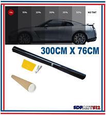 Film solaire de qualite 3m x 76cm, teinté 1% VLT couleur Noir auto,batiment