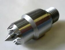 """Wood Lathe 5/8"""" Multi Spur Center with M14 x 1.5 Metric Threaded Mount New"""