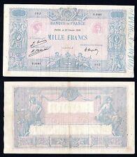 Francia / France - 1000 francs Blue Et Rose 1926 BB+/VF+  RaRa