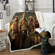 JUMANJI 3D Print Sherpa Blanket Sofa Couch Quilt Cover Throw R08