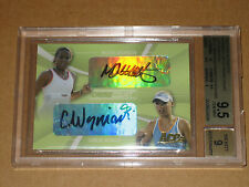BGS 9.5 CAROLINE WOZNIACKI 2007 ACE AUTHENTIC CROSS COURT TENNIS AUTO AUTOGRAPH