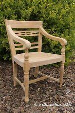 TEAK GARTENSTUHL CORONA Teakholz antik massiv Armlehnstuhl Stuhl Gartenmöbel