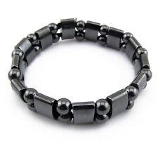 Bijoux Bracelet magnétique en Hématite perles rondes et plates - Beads magnetic