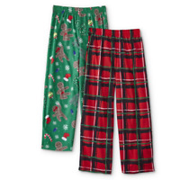 Joe Boxer Boys' 2-Pack Pajama Pants - Plaid & Deer