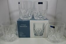 (4) Waterford Marquis Set 4 Brookside 10oz Double Old Fashion Tumblers Glasses