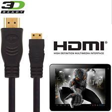 ALBA 10 Pollici Tablet PC Mini HDMI a HDMI TV 5M GOLD Lunga Cord wire cable
