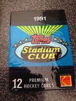 1991 Topps Stadium Premium Club Hockey  3 Packs Lot.