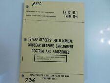 FM 101-31-1 FMFM 11-4 NUCLEAR WEAPONS 1968 MANUAL VIETNAM