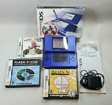 NINTENDO DS ORIGINAL BLUE NTR-001 MARIO KART BUNDLE **WORKING**